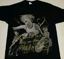 Paramore The World Can't Keep Us Down Mens Med Shirt Rock Pop Hayley Williams
