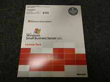 Brand New Microsoft Small Business Server 2003 5 User CAL License Pack for PC