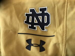 Bnwtags Under Armour Notre Dame On Field Shorts! Gold Size Is XXL Loose Fit!