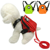 Small Dog Harness Bag with Leash Backpack Puppy Doggie Hiking Camping Carrier