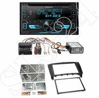 Kenwood DPX3000U CD Radio +Mercedes C-Klasse (W203) 2-DIN Blende black + CAN-Bus