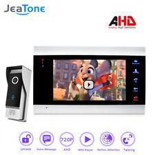 720P/AHD Intercom 4 Wired 7''Video Door Phone DoorBell Door Speaker Security Kit
