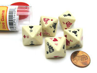 8-Sided Poker Dice Game with 5 Dice Travel Tube and Gaming Instructions