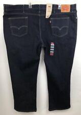 Levis 514 Men's Jeans  Dark Slim Fit 54 x 30 Dark Blue Big Tall Irregular