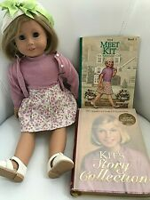 """American Girl Doll Kit Kittredge 18"""" with original outfit, accessories & Books"""