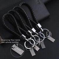 3pcs Leather Rope Strap Weave Key ring Key chain KeyFob Gift