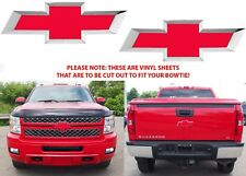 Colormatched Victory Red Vinyl Bowtie Overlays For 2007-2013 Silverado New USA