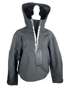ALEXANDER WANG HM H&M ANORAK Black Windbreaker JACKET Hooded Size 36 with Tag