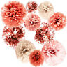 20 PCS Rose Gold Party Decorations - Metal Foil and Tissue Baby Shower Ornament