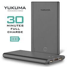 Yukuma Portable Power Bank World's Fastest Recharge 30 Minutes 10000 mAH - Gray