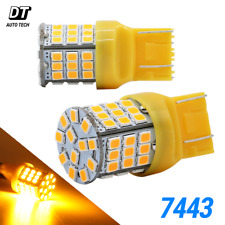 Syneticusa 7443 LED Amber Yellow Turn Signal DRL Side Marker Hi Power Light Bulb