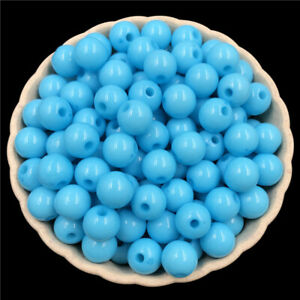 50PCS 6mm Acrylic beads Loose Beads Jewelry Accessories DIY Findings round
