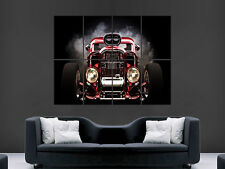 HOT Rod auto RED GIANT POSTER WALL ART PICTURE PRINT LARGE