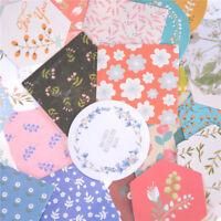 40Pcs Floral Texture Paper Sticker Diy Diary Scrapbooking Seal Sticker Decor RS