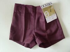 Vintage 70s unused 4 - 5 years children's boys red shorts tags 'Ockers' tags