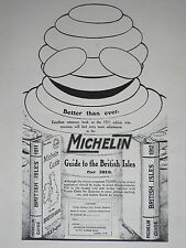 Bibendum Michelin Guide To The British Isles 1912 Advertisement Ad Print 9311