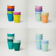 Set Of 6 - Barel Classic Melamine Cups 200mL In 8 Colour Combos - Juice And Milk