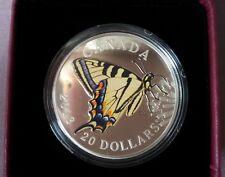 2013 BUTTERFLIES OF CANADA: TIGER SWALLOWTAIL – $20  FINE SILVER COIN   Q-0004