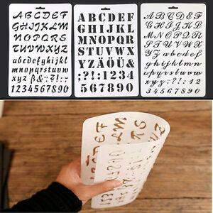 LC_ lettrage pochoir lettre ALPHABET peinture papier artisanat numéros Che