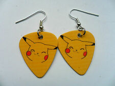 Cute Pokemon Pikachu  Guitar Pick // Plectrum  Earrings