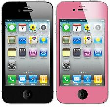 Pink Trim Anti-glare Matte Screen Protector for Apple iPhone 4/4S