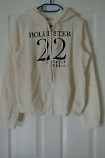 Hollister Embroidered Graphic Hoodie - Sz. L - White - Hollister 22 California