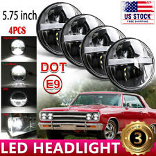 """4PCS 5 3/4"""" 5.75"""" Projector LED Headlight DRL Halo Ring Fit For Ford Gran Torino"""
