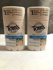 (2) Tom's Natural Long Lasting Deodorant Honeysuckle Rose 2.25 oz - New