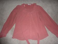 New Look size 16 pink long sleeved blouse, transparent