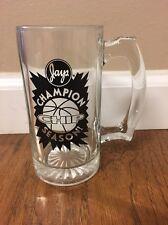 Vintage Jays Potato Chip Advertising Glass Stein ~ Champion Chip Season