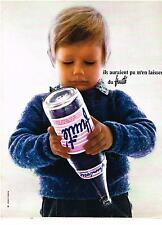 PUBLICITE advertising   1968   EVIAN  Fruité