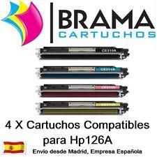 4 x Toner Comp. HP Laserjet CP1025 nw Hp 126A CE310A Ce311A Ce312A Ce313A