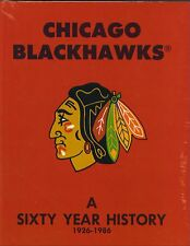 Chicago Blackhawks hockey Sixty Year History hardcover book 1926-1986