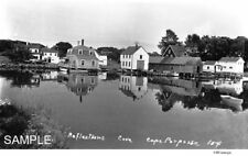 1930's Cape Porpoise Cove Harbor Maine Reflections