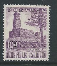 1953 NORFOLK ISLAND 10d SALTHOUSE FINE MINT MUH/MNH