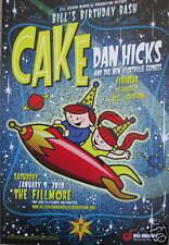 CAKE FILLMORE POSTER DAN HICKS Fishbear Original Bill Graham Bills Birthday Bash
