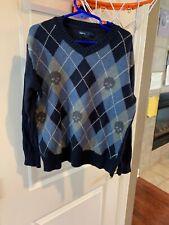 Gap Kids Youth Boys Pullover Sweater S Small Argyle & Skulls