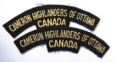 LG Canadian Armed Forces CANADA Cameron Highlanders of Ottawa shoulder flashes