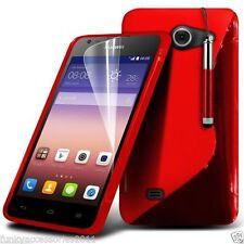 Fundas y carcasas transparente de color principal rojo para teléfonos móviles y PDAs Huawei