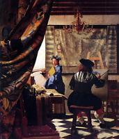 Huge Oil painting Johannes Vermeer - The Art of Painting painter doing his work