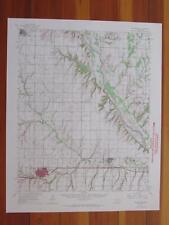Weatherford Oklahoma 1966 Original Vintage USGS Topo Map