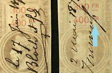 f7048 France EFFET DE COMMERCE no.84, 40c 1872 1873 Errors