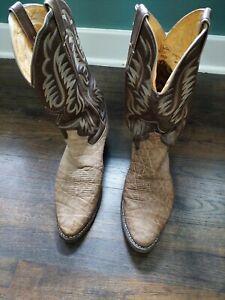 Vintage Genuine ELEPHANT Skin JUSTIN Western Cowboy Boots Men's 11.5D USA  8536