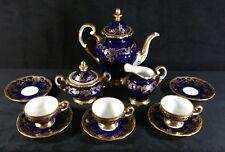 Rare 1948-1949 Weimar German Gilded Cobalt Katharina Tea Or Espresso Set 20003N