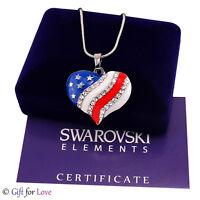 Collana USA oro bianco Swarovski Elements originale G4Love cristalli cuore donna
