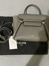Celine Belt Bag Nano in Grained Calf Skin Gray