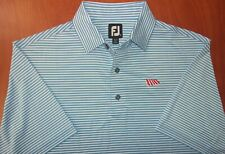 FootJoy Performance Stretch Lisle Striped Golf Polo Shirt M ~NEW~