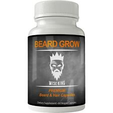 BEARD GROWTH Booster Vitamins | Facial Hair Grow Supplement Stimulator for men |