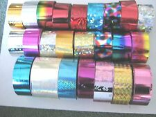 6 x 30cm MULTI COLOUR DESIGN FOIL WRAP - NAIL ART   - 1-  (tips,, gel, acrylic)