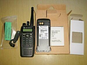 Motorola DP3600 UHF 403-470MHz DMR with unused IMPRES battery, clip & antenna #B